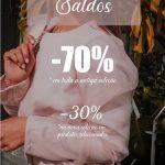Saldos -30% nova coleção