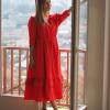 Vestido Lurdes de cor vermelha Nova Coleção 2021